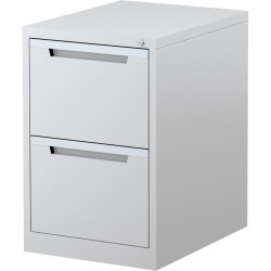 STEELCO FILING CABINET 2 Drawer White Satin