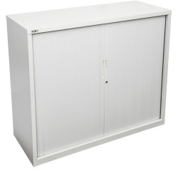 GO TAMBOUR DOOR CUPBOARD White Satin H1016xW900xD470mm