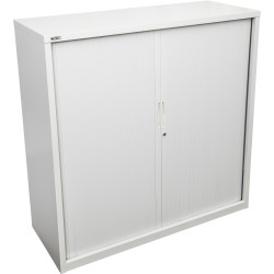 GO TAMBOUR DOOR CUPBOARD White Satin H1016xW1200xD470mm