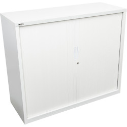 GO TAMBOUR DOOR CUPBOARD White Satin H1200xW1200xD470mm