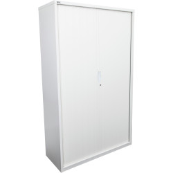 GO TAMBOUR DOOR CUPBOARD White Satin H1980xW1200xD470mm