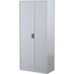 STEELCO TAMBOUR DOOR CUPBOARD 5 Shelf Silver Grey H2000xW900xD463mm