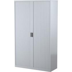 STEELCO TAMBOUR DOOR CUPBOARD 5 Shelf Silver Grey H2000xW1200xD463mm