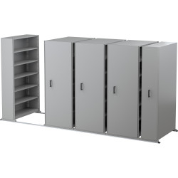 APC EZI-SLIDE AISLE SAVER 5 Shelves/Bay Silver Grey L4500xH2175xW1200xD400mm