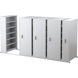 APC EZI-SLIDE AISLE SAVER 5 Shelves/Bay White L4500xH2175xW1200xD400mm