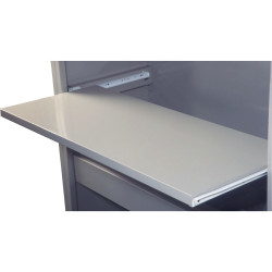 STEELCO REFERENCE SHELF Pull Out W1200 White Satin