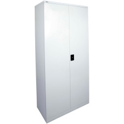 GO STATIONERY CUPBOARD H2000xw910xd450mm Silver Grey