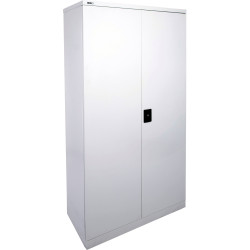 GO STATIONERY CUPBOARD H1830xw910xd450mm Silver Grey