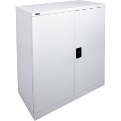GO STATIONERY CUPBOARD H1015xw910xd450mm Silver Grey
