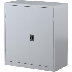 STEELCO STATIONERY CUPBOARD 2 Shelf Silver Grey H1015xW914xD463mm