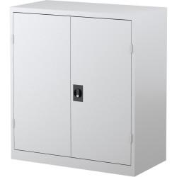 STEELCO STATIONERY CUPBOARD 2 Shelf White Satin H1015xW914xD463mm