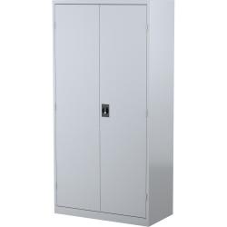 STEELCO STATIONERY CUPBOARD 3 Shelf Silver Grey H1830xW914xD463mm