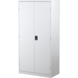 STEELCO STATIONERY CUPBOARD 3 Shelf White Satin H1830xW914xD463mm