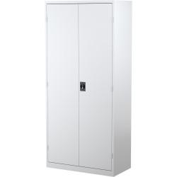 STEELCO STATIONERY CUPBOARD 4 Shelf White Satin H2000xW914xD463mm