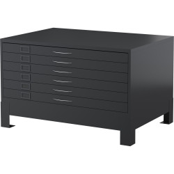 STEELCO PLAN CABINET 6 Drawer Graphite Ripple