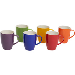 CONNOISSEUR COLOURED MUGS Assorted 370ml Polished Colors