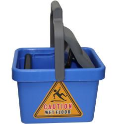CLEANLINK MOP BUCKET Plastic Wringer 9 Litre Blue