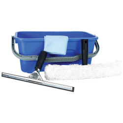 CLEANLINK WINDOW CLEANING KIT Bucket,Cloth,Channel & T-Bar