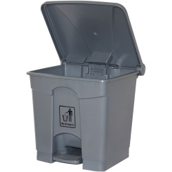 CLEANLINK RUBBISH BIN With Pedal Lid 30Litre Grey 41 x 40 x 43.5cm