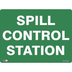 SAFETY SIGNAGE - EMERGENCY Spill Control Station 450mmx600mm Polypropylene