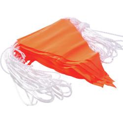 MAXISAFE PVC BUNTING FLAGLINE 30m Fluoro Orange