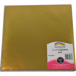 KINDER SHAPES Foil 125mm Square Gold