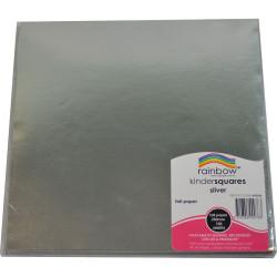KINDER SHAPES Foil 125mm Square Silver