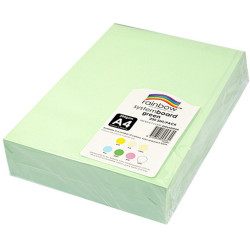 RAINBOW SYSTEM BOARD 200GSM A4 Green  Pack of 200