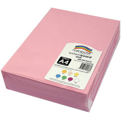 RAINBOW SYSTEM BOARD 200GSM A4 Pink  Pack of 200