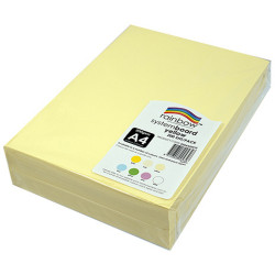 RAINBOW SYSTEM BOARD 200GSM A4 Yellow  Pack of 200