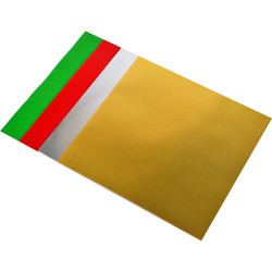 KINDER SHAPES Xmas Foil &Gloss Paper Squares