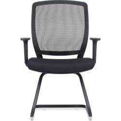 RAPIDLINE VISITOR CHAIR Mesh Visitor Chair Black Fabric Seat, Black Mesh