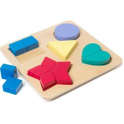 EDVANTAGE COLOUR & SHAPE Puzzle Board