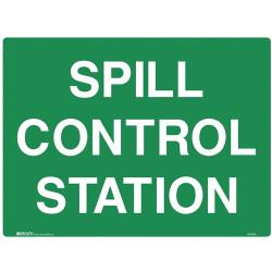 BRADY EMERGENCY SIGN Spill Control Station Polypropylene