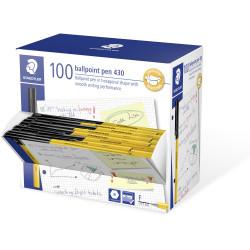 Staedtler 430 Ballpoint Pen 0.7mm Black Pack of 100