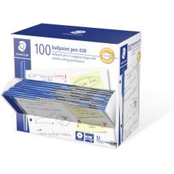 Staedtler 430 Ballpoint Pen 1.0mm Blue Pack of 100