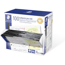 Staedtler 430 Ballpoint Pen 1.0mm Black Pack of 100