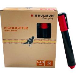 BIBBULMUN HIGHLIGHTER Chisel Red