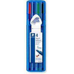 STAEDTLER TRIPLUS WALLET 437 Xbsb4 Ballpoint Pen Assorted Pack of 4