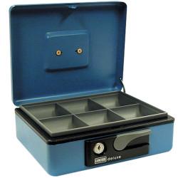 CONCORD DELUXE CASH BOX No.10 230x185x80mm Blue
