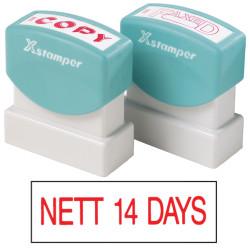 XSTAMPER -1 COLOUR -TITLES D-F 1170 Nett 14 Days Red