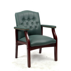 VIP EXECUTIVE CLIENT CHAIR Dark Green Leather