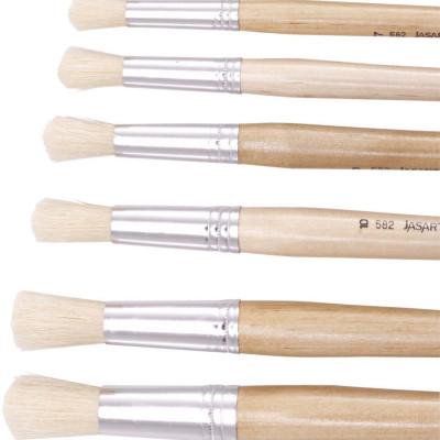 Jasart Hog Bristle Series 582 Round Brushes Size 3 Pack of 12