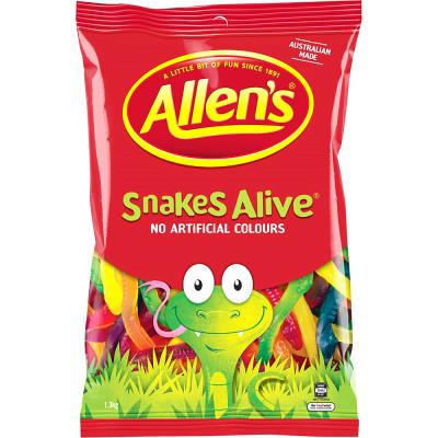 ALLEN'S CONFECTIONERY Snakes Alive 1.3kg