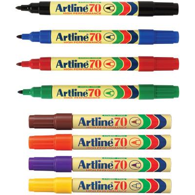 ARTLINE 70 PERMANENT MARKERS Med Bullet Assorted Pack Of 12